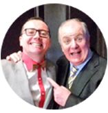 Gavin Duffy, Dragon's Den Entrepenure pictured with Paul Dunphy Esquire