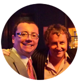 Tom Dunne, Today FM DJ pictured with Paul Dunphy Esquire